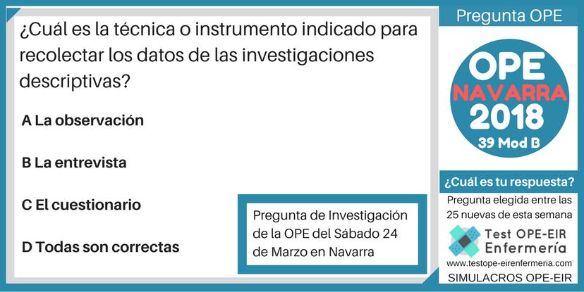 OPE ENFERMERÍA NAVARRA INVESTIGACIÓN
