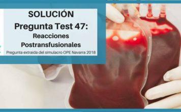 preparación enfermería reacciones postransfusionales