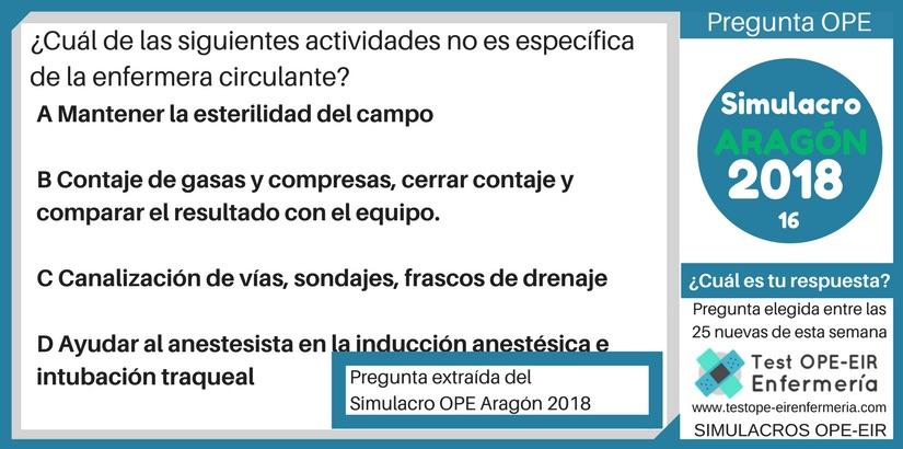 PREGUNTA OPE ENFERMERÍA ARAGÓN