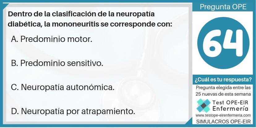 pregunta neuropatia diabetica ope enfermeria