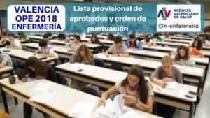 OPOSICION ENFERMERIA COMUNIDAD VALENCIANA
