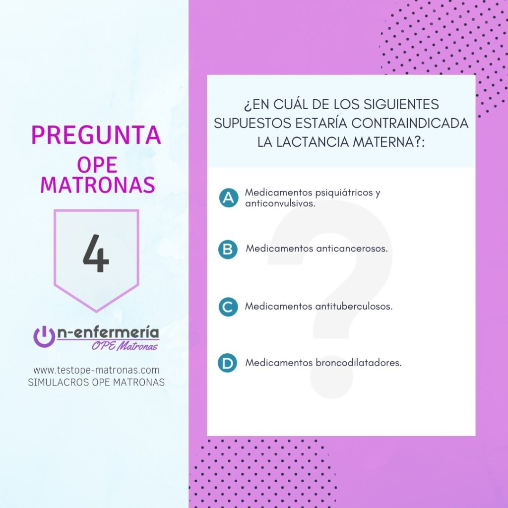 medicamentos incompatibles lactancia materna OPE matronas