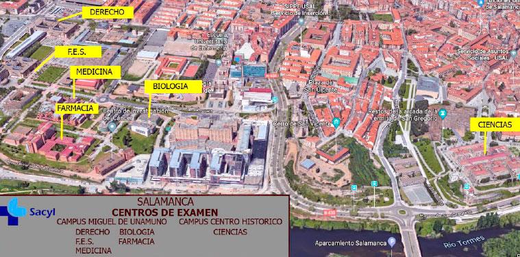Centros OPE SACYL Salamanca