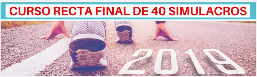 CURSO RECTA FINAL 40 SIMULACROS ENFERMERÍA