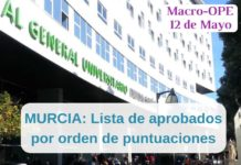 LISTA OPE ENFERMERIA MURCIA 2019