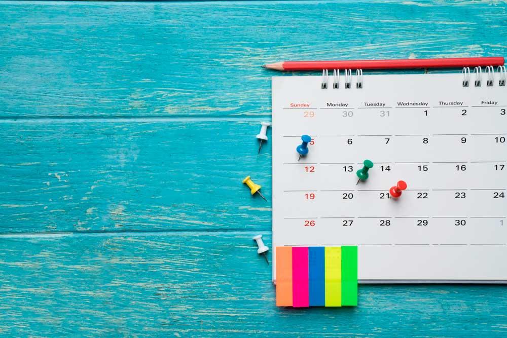 calendario estudio