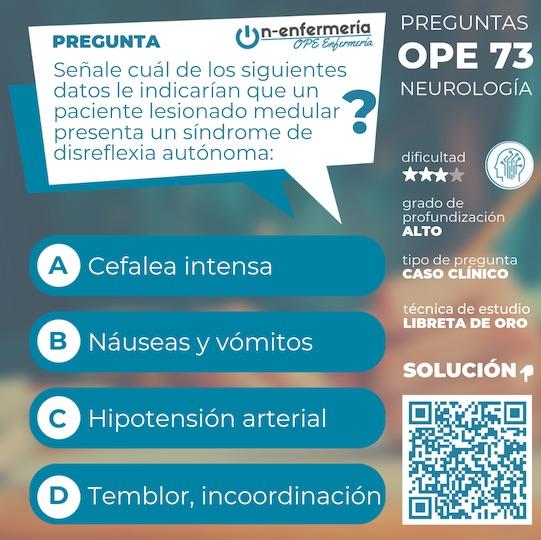 PREGUNTA NEUROLOGIA DE OPE ENFERMERIA