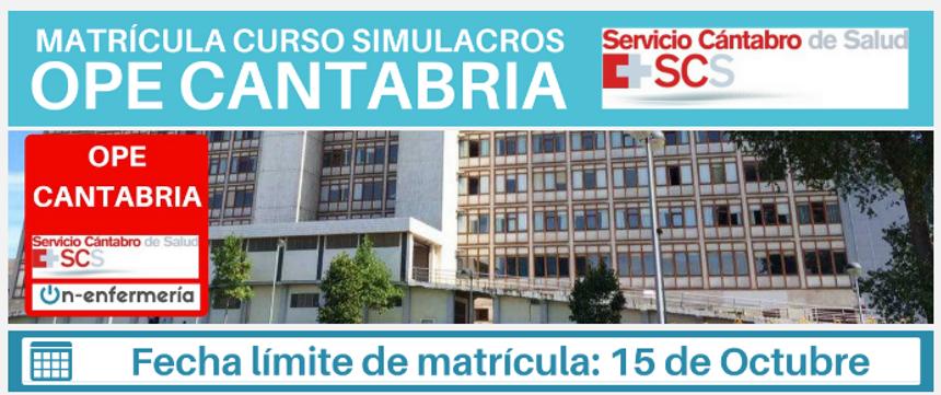 OPE Enfermería Cantabria 2018