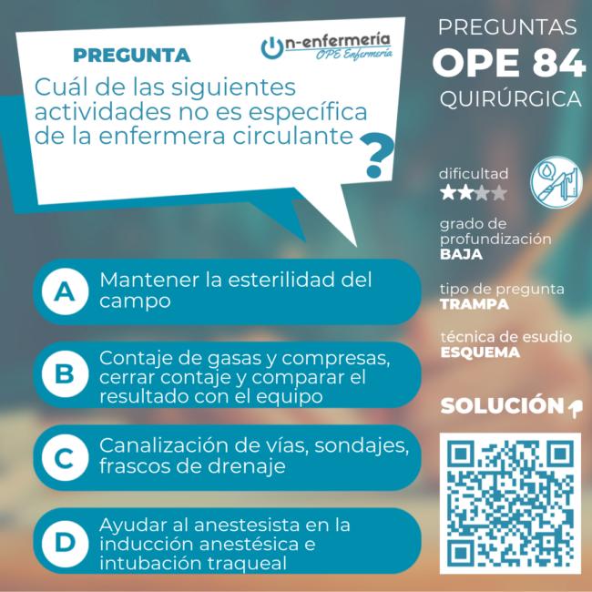 preparación ope enfermería 2020 QUIRÚRGICA