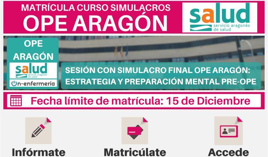 OPE MATRONAS ARAGÓN-SIMULACROS ENFERMERÍA
