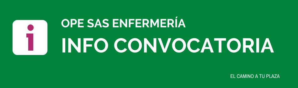 CONVOCATORIA OPE SAS ENFERMERIA