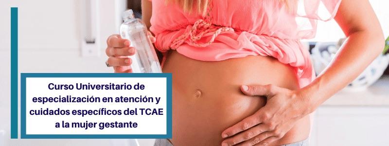 cursos acreditados tcae cuidados mujer gestante