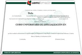 CURSO UNIVERSITARIO DE ESPECIALIZACION