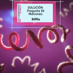 agente etiológico de la sífilis- OPE matronas- ITS