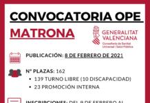 convocatoria ope matronas valencia