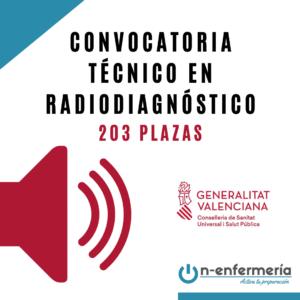 convocatoria radiodiagnóstico comunidad valenciana