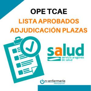 lista aprobados y adjudicación de plazas ope tcae aragón