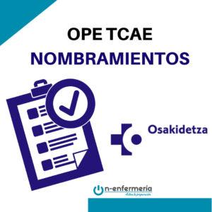 nombramientos ope tcae osakidetza