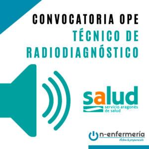 convocatoria ope técnico radiodiagnóstico aragón