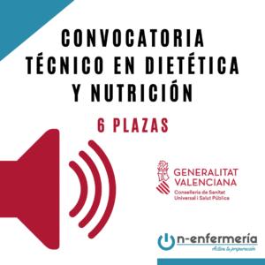 convocatoria ope técnico dietética y nutrición comunidad valenciana 2021