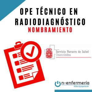 Nombramiento Técnico Radiodiagnóstico