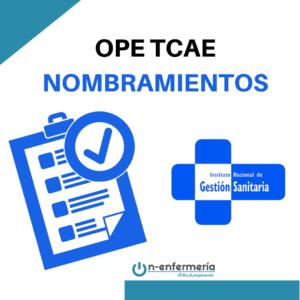 listas y adjudicación de plazas ope tcae ingesa