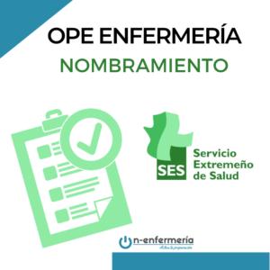Nombramiento Enfermería Extremadura