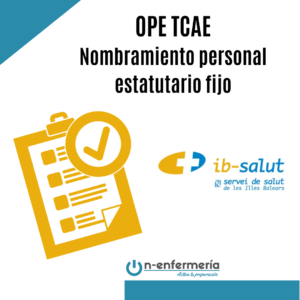 OPE TCAE Baleares nombramiento