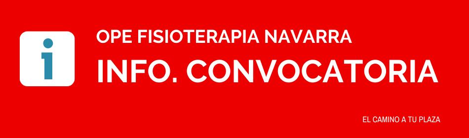 Fisioterapia Navarra convocatoria