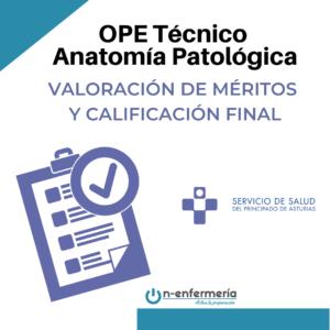 calificación final OPE Anatomía Patológica Asturias