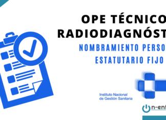OPE Técnico radiodiagnóstico INGESA
