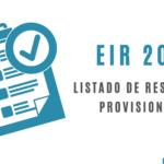 EIR 2021 - Listado de resultados provisionales