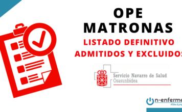 listado definitivo OPE Matronas Navarra