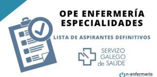 enfermería especialidades SERGAS