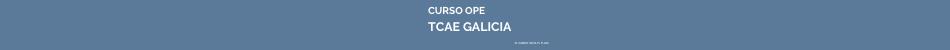 OPE TCAE Galicia listas aspirantes