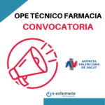 convocatoria ope técnico farmacia comunidad valenciana valencia