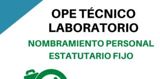 Nombramiento ope técnico laboratorio Andalucía