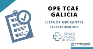 OPE TCAE Galicia listas aspirantes seleccionados