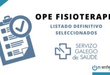 listado definitivo OPE Fisioterapia SERGAS