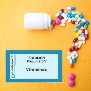 solucion pregunta simulacros on enfermería vitaminas