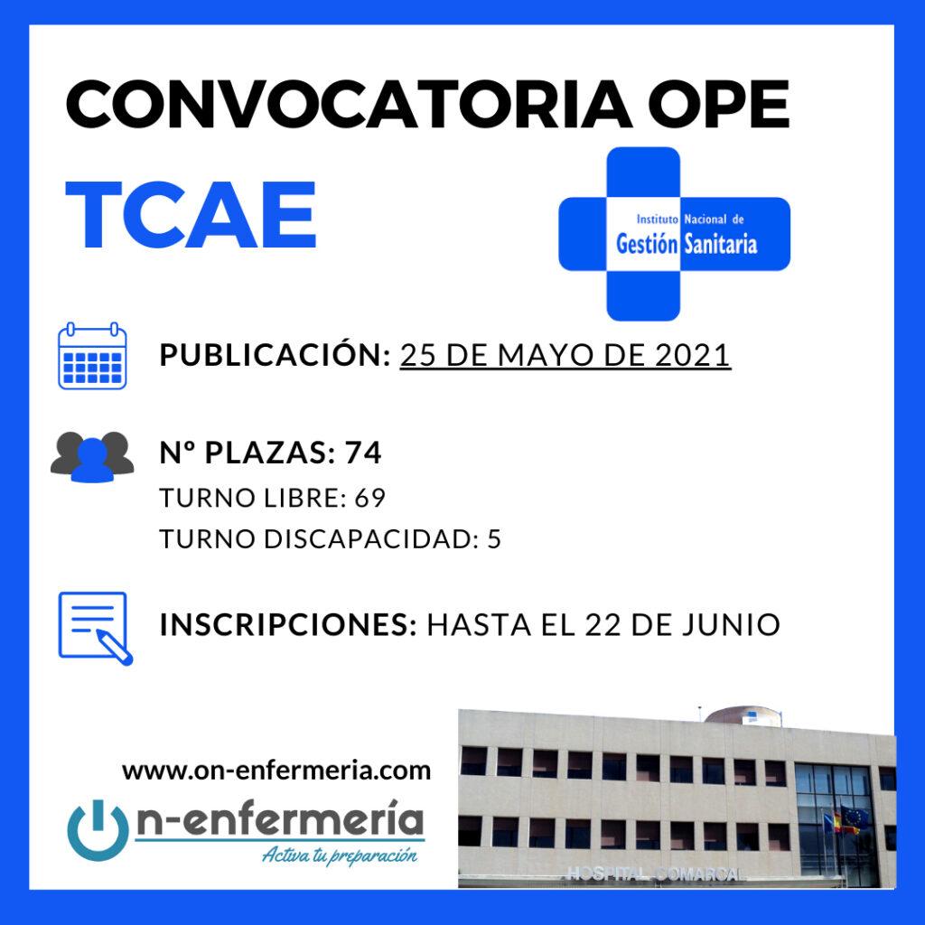 Convocatoria OPE TCAE INGESA