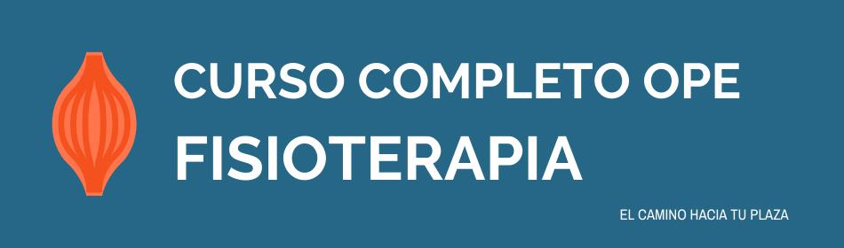 curso OPE fisioterapia SESCAM