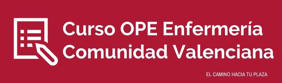 Cabecera curso OPE Enfermería Comunidad Valenciana