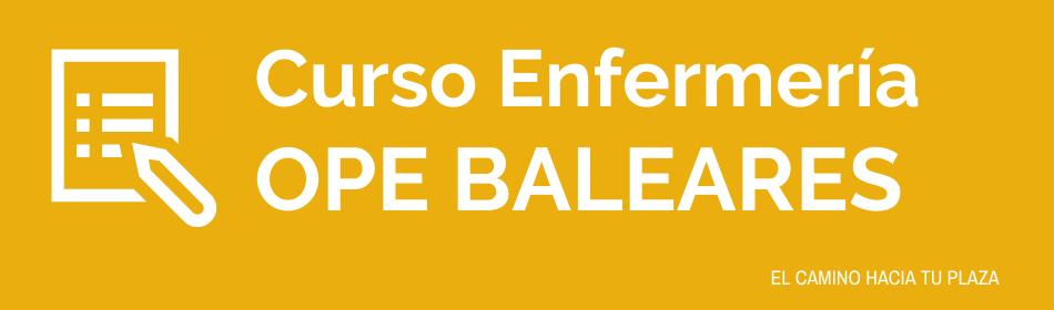 CURSO ENFERMERÍA BALEARES