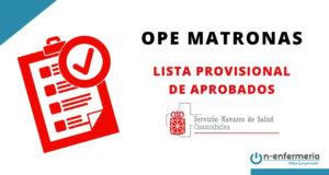 Lista provisional de aprobados OPE Matronas Navarra 2017-2019
