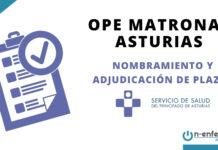 nombramiento y adjudicación plazas OPE Matronas SESPA