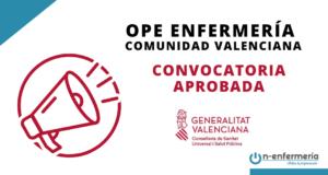 convocatoria OPE Enfermería Comunidad Valenciana