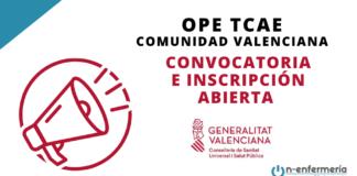 convocatoria ope tcae comunidad valenciana