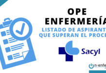 OPE Enfermería SACYL listado de aspirantes que superan el proceso