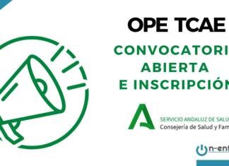 convocatoria OPE TCAE SAS